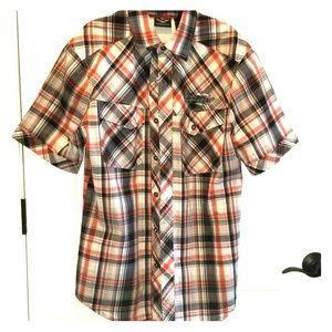 H-D Short Sleeve Button up Mens S